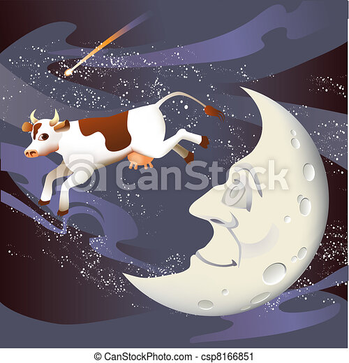 Cow Jumped Over the Moon - csp8166851