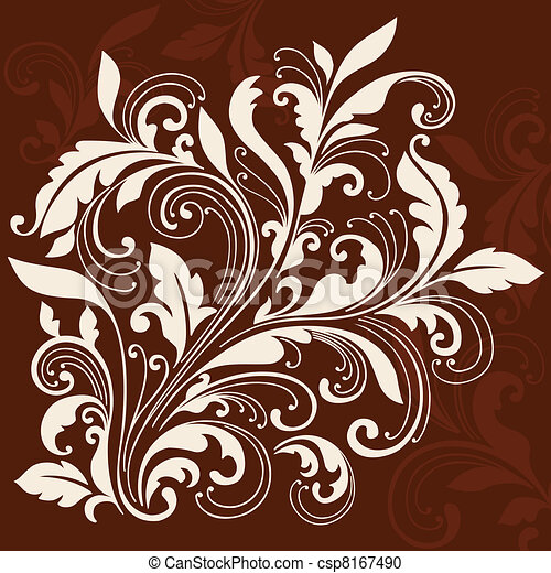 Swirly Ornamental Flourish Design - csp8167490