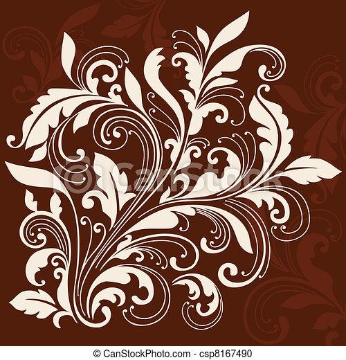 Swirly Ornamental Flourish Design - csp8167490