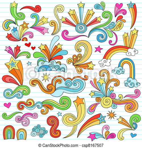 Notebook Doodle Design Elements Set - csp8167507