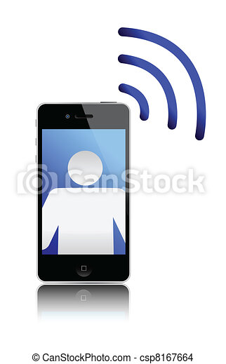 incoming call cellphone - csp8167664