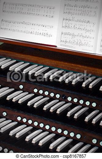 Church organ - csp8167857