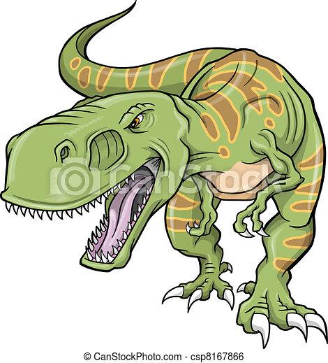 Tyrannosaurus Dinosaur Vector  - csp8167866
