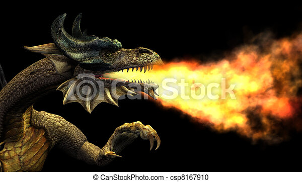 Fire Breathing Dragon - csp8167910