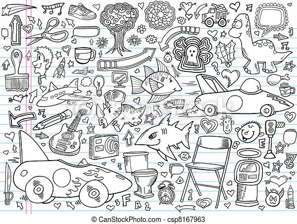 Notebook Doodle Design Elements - csp8167963