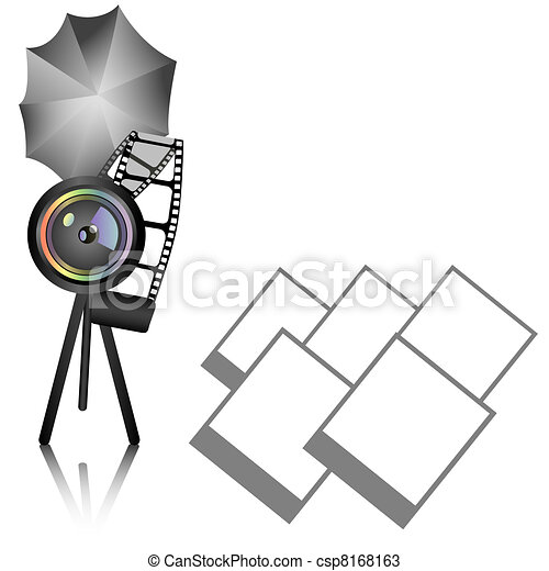 Photography background with objective  - csp8168163