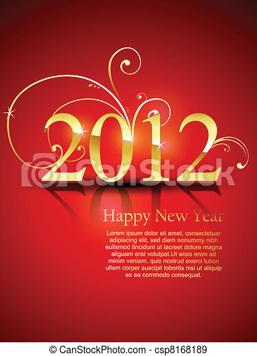 happy new year - csp8168189