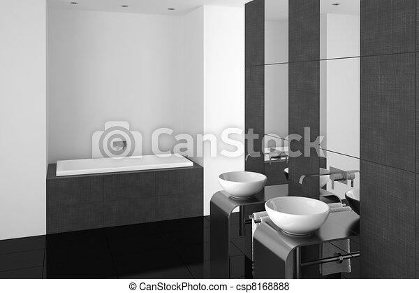 stock illustration von badezimmer modern schwarz boden modern badezimmer csp8168888. Black Bedroom Furniture Sets. Home Design Ideas