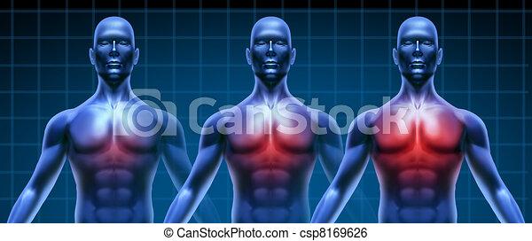 Heart illness medical chart - csp8169626