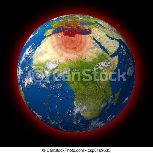 Libya conflict global hot spot - csp8169635