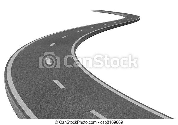Highway to a destination - csp8169669