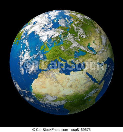 Planet Earth featuring Europe and European union  - csp8169675