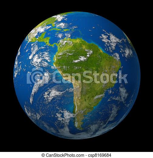 dessin de plan te la terre projection am rique sud la terre csp8169684 recherchez. Black Bedroom Furniture Sets. Home Design Ideas