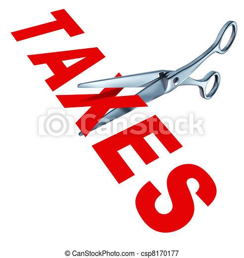 Cutting taxes - csp8170177