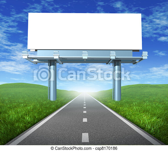 Blank road billboard - csp8170186