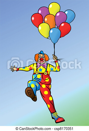 Cheerful clown - csp8170351