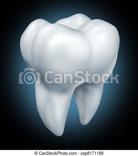 Dental tooth health symbol - csp8171188