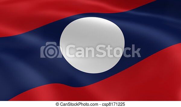 Laotian flag in the wind - csp8171225