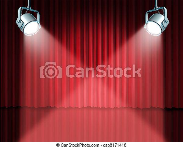 illustration de dans projecteur caract riser concept th tre tape csp8171418. Black Bedroom Furniture Sets. Home Design Ideas