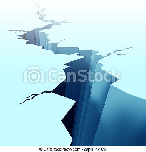Cracked ice on frozen floor - csp8172072