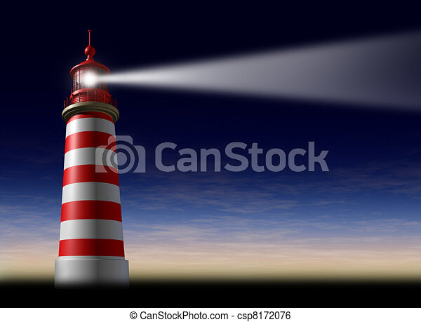 Lighthouse beam of light - csp8172076