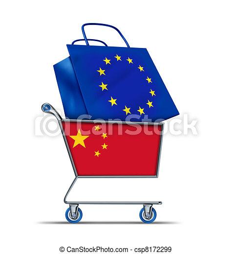 Europe bailout with China buying European debt - csp8172299