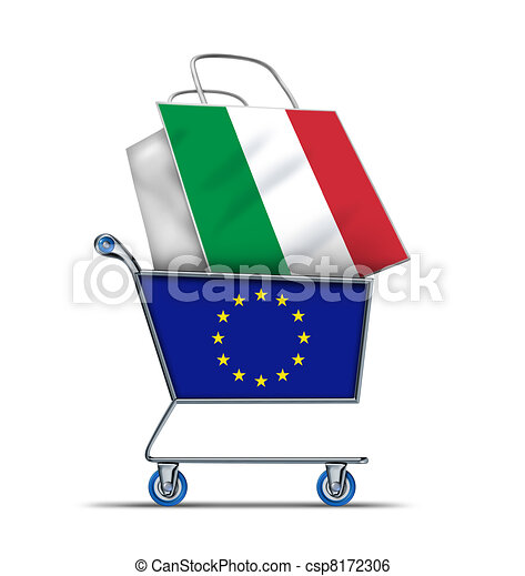 Europe buying Italian and Italy debt - csp8172306