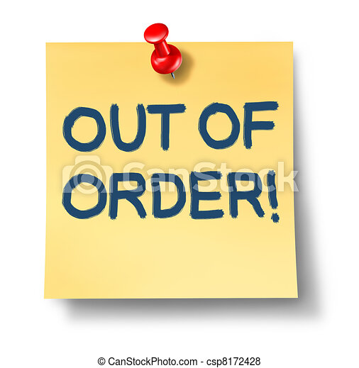 Out Of Order - csp8172428