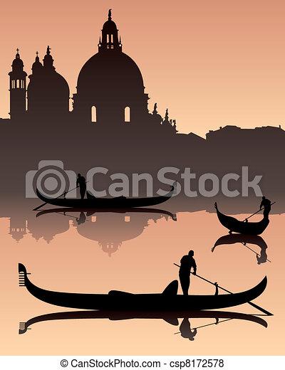 Venetian gondoliers - csp8172578
