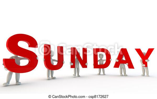 Sunday - csp8172627