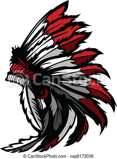 American Native Indian Feather Head - csp8173036