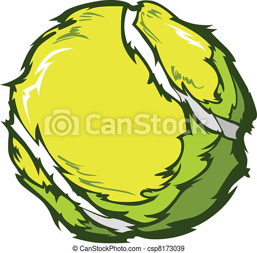 Tennis Ball Vector Image Template - csp8173039
