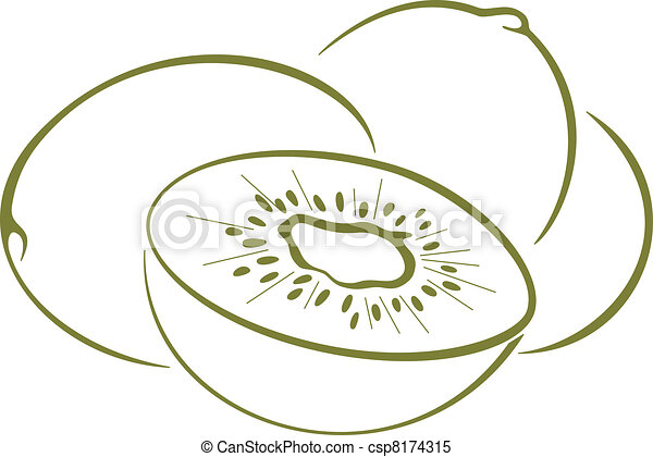 Kiwi Fruit Silhouette Kiwi Fruit Pictogram