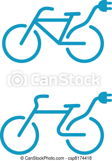 Electric bicycle icon - csp8174418