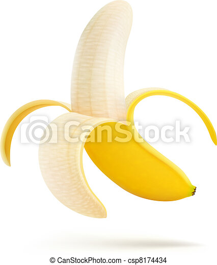 half peeled banana - csp8174434