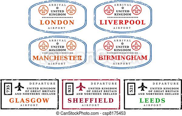 Travel stamps - UK - csp8175453