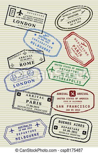 Passport page - csp8175487