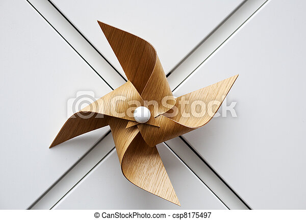 Wooden windmill toy - csp8175497