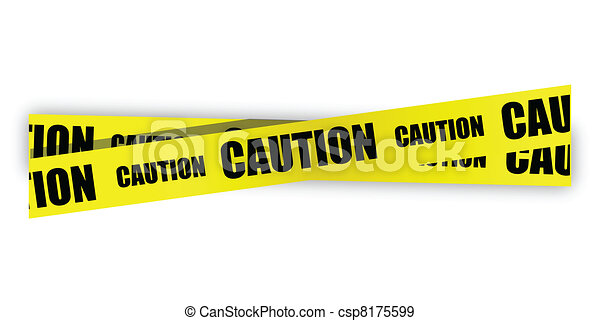yellow caution tape illustration - csp8175599