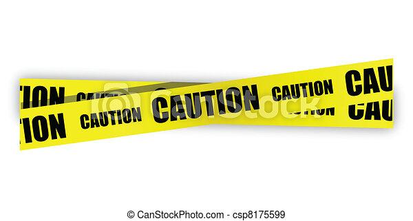 yellow caution tape illustration - csp8175599