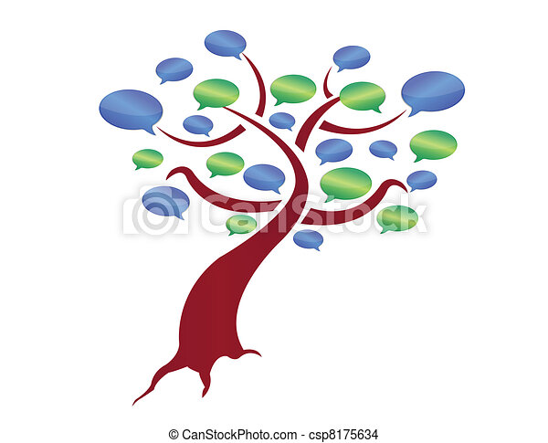 message tree illustration design - csp8175634