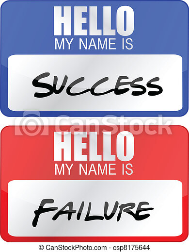 success, failure name tags - csp8175644