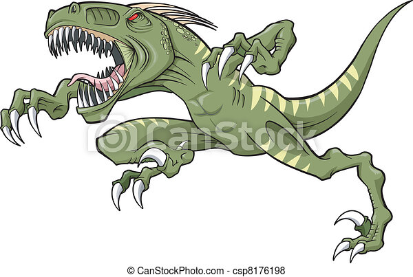 Raptor dinosaur Vector Illustration - csp8176198