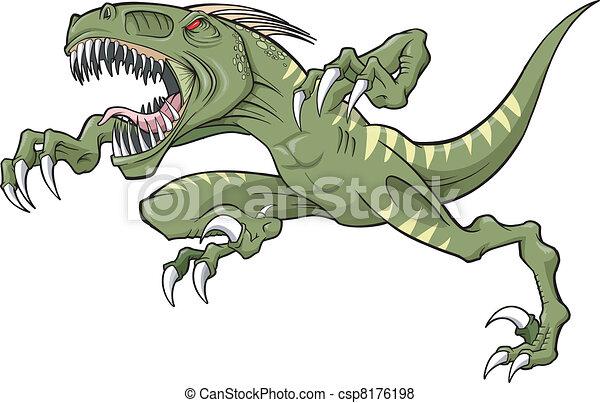 Raptor dinosaur Vector Illustration - csp8176198