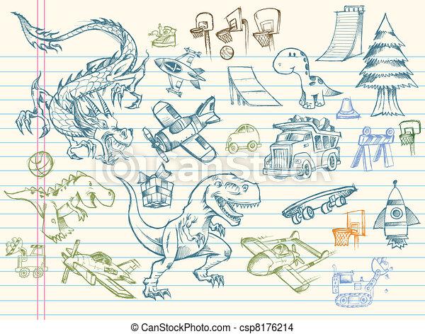 Sketch Doodle Mega Vector Set - csp8176214