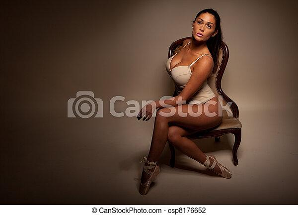 Dramatic Portrait Of Sexy Ballerina - csp8176652