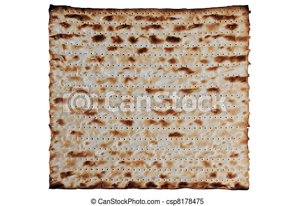 Traditional Jewish Matzo sheet on a Passover Seder table. Passover  is a predominantly Jewish holy day and festival. It commemorates the story of the Exodus, in which the ancient Israelites were freed - csp8178475