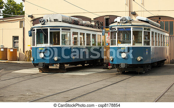 Tram for Opicina - csp8178854