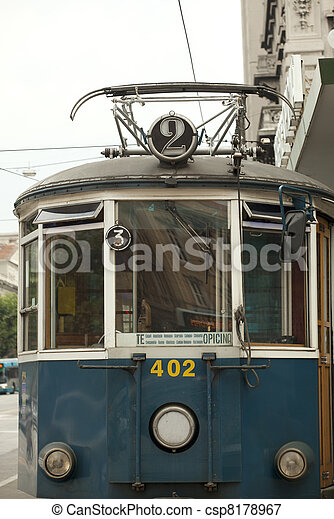 Tram for Opicina - csp8178967