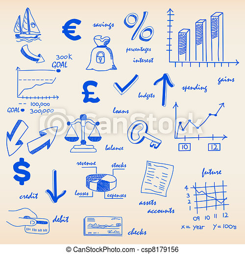 Finance Budget Icons - csp8179156